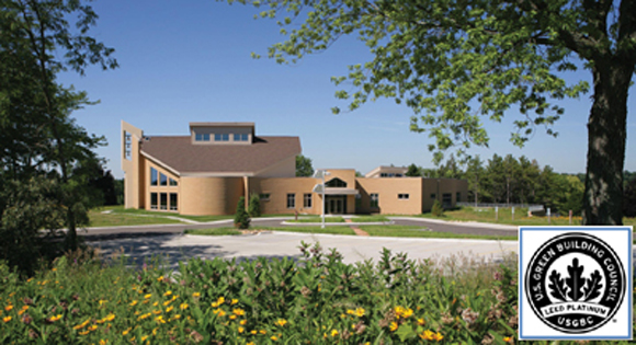 Holy Wisdom Monastery LEED certified building