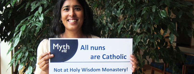 Rosy holding poster - Myth - All nuns are Cathollic