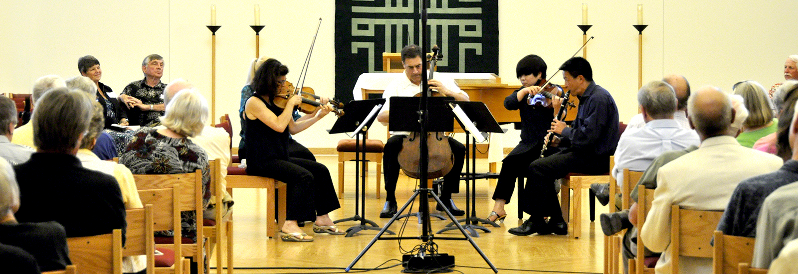 Bach Dancing & Dynamite Society performing at Holy Wisdom Monastery. Photo by Dick Ainsworth.