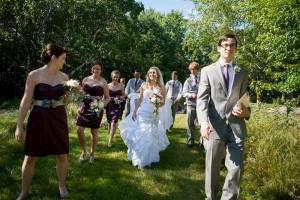 Wedding procession in Madison, WI.