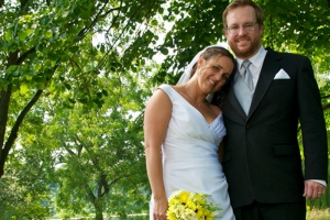 Outdoor wedding at Lost Lake, Holy Wisdom Monastery