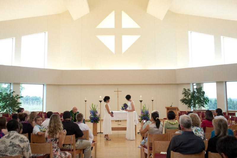Wedding in Assembly Room at Holy Wisdom Monastery in Madison WI