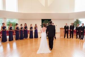 A wedding in Madison WI's Holy Wisdom Monastery
