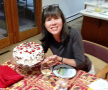 Sojourner Denise with birthday cake