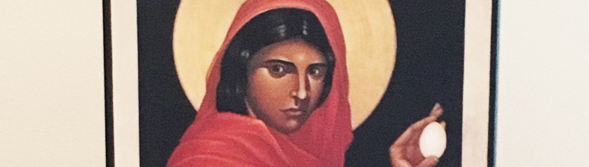 portion of Icon of Mary Magdalene by Robert Lentz, ofm
