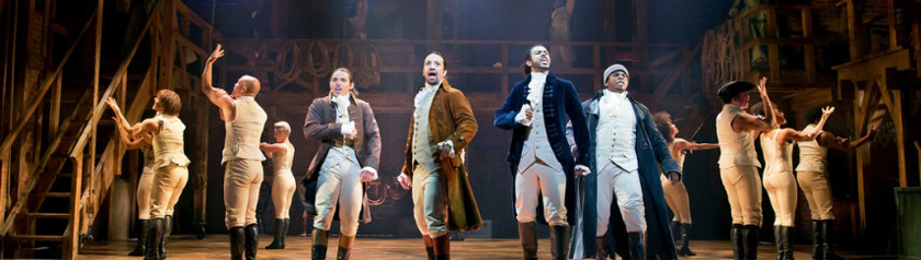 Hamilton on Broadway - photo from New York Times post