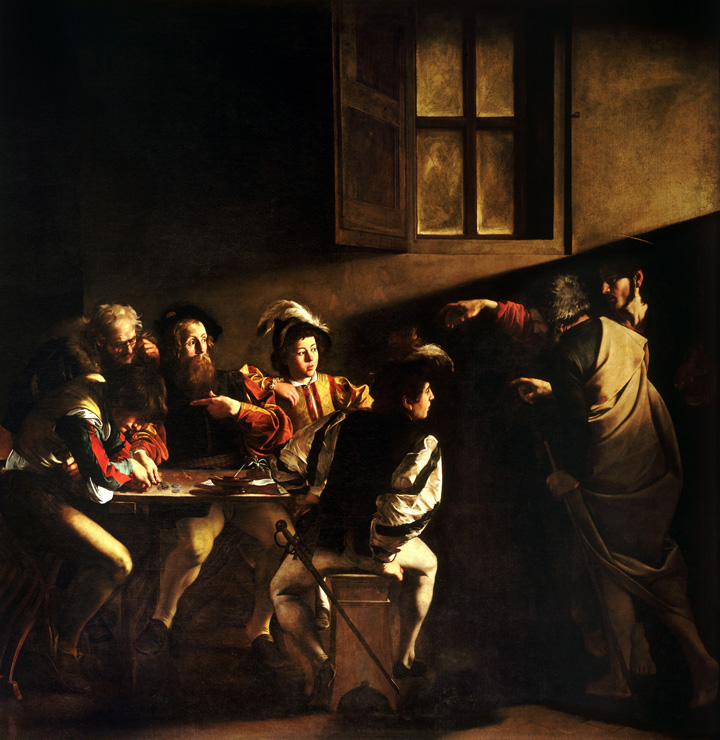Painting - The Calling of Saint Matthew by Caravaggio