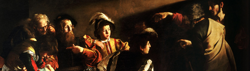 Painting - The Call of Saint Matthew by Caravaggio